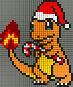 Charmander With Candy Cane