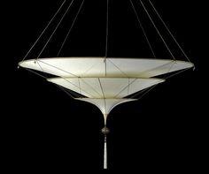 SCHEHERAZADE CHANDELIER - silk pendant with Murano beads