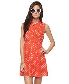 Polka Dot Shirtdress | FOREVER21 - 2000035991