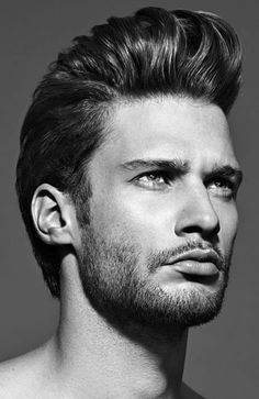 Elvis was the King of the and and today is pompadour hairstyle is King again. Guys are rocking the pompadour combined with a wicked fade to Mens Hairstyles 2014, Mens Medium Length Hairstyles, Haircuts For Men, Cool Hairstyles, Men's Haircuts, Mens Thick Hairstyles, Wedding Hairstyles, Pompadour Men, Pompadour Hairstyle