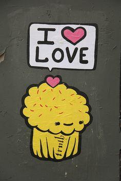 Cupcake Luv - Street Art, Austin, Texas by tangaloo, via Flickr