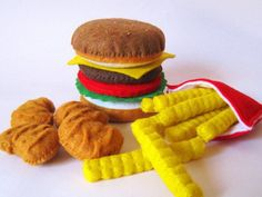 10 awesome handmade gifts for kids. We love this fast food pillow set // Momtastic