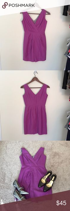 ❤️B. R. Beautiful Lavender Magenta Career Dress❤️ ❤️B. R. Beautiful Lavender Magenta Career Dress, Cotton / Silk Blend, pleated, in excellent condition❤️ Banana Republic Dresses