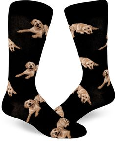 Your loyal friend is always by your side, perhaps even lovingly underfoot at times. Never forget that Labradorable face, wherever you go, in yellow lab crew socks for men. Designed by ModSocks in Bellingham. Dog Socks, Crew Socks, Super Cute Dogs, Funky Socks, Loyal Friends, Sock Shop, Sock Animals, Novelty Socks, Designer Socks