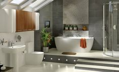 Modern vintage bathroom... Loving this