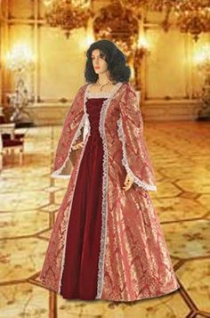 Renaissance Dress Handmade from Brocade Baroque por YourDressmaker