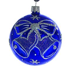 """Jingle Bells"" Glass Christmas Ball Ornament."