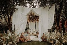 White draped wedding tent for bohemian Bedouin style wedding. Low grazing table and meadow flowers. Bohemian wedding styling and Moroccan cushions. Shoot conceptualised by Wonderland Invites and shot by Esme Whiteside. Moroccan Wedding, Moroccan Style, Modern Moroccan, Wedding Shoot, Boho Wedding, Bohemian Weddings, Bohemian Beach, Dream Wedding, Wedding Ideas