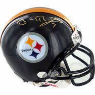757c698e3 Pittsburgh Steelers Quarterback - Ben Roethlisberger Autographed Helmet.  Steiner Sports