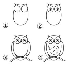 Simple kids drawing easy owl drawing at com free for personal use architects near melksham Easy Animal Drawings, Easy Drawings For Kids, Drawing For Kids, Owl Doodle, Doodle Art, Rock Painting Patterns, Rock Painting Designs, Cute Owl Drawing, Simple Owl Drawing