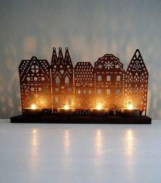 Christmas Houses Tealight Holder