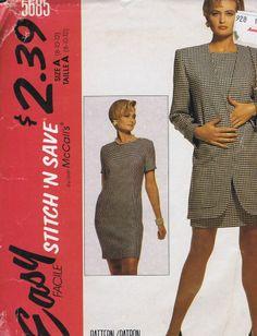 "Dress Jacket SEWING PATTERN MCCALLS 5685 SZ 8-12 BUST 31.5-34 HIP 33.5-36"" UNCUT"