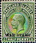 Falkland Islands 1918 War Stamp Overprint SG 70 Fine Mint SG 70 Scott MR1 Other British Commonwealth Empire and Colonial Stamps Here