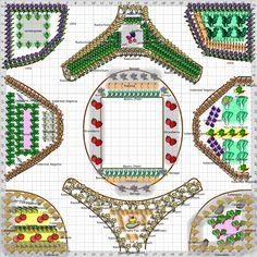 2012 Edible Landscape Planting plan from Rock Prairie Montessori School.