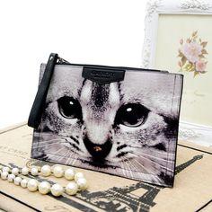 3D animal cat women's handbag inclined shoulder bag