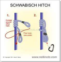 Schwabisch Hitch - Arborist friction hitch