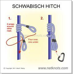 Schwabisch Hitch - Arborist friction hitch