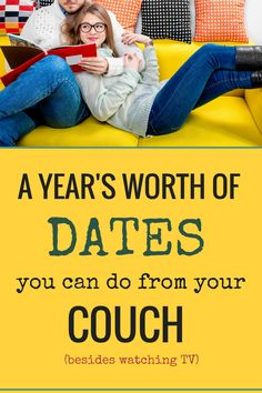 Stay at home dates | a year of dates | low-energy dates from your couch