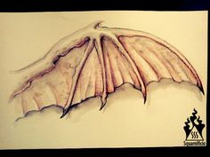 Demon wing Demon Wings, Watercolor Tattoo, Costumes, Drawings, Dress Up Clothes, Watercolour Tattoos, Watercolor Tattoos, Drawing, Costume