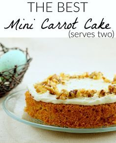 Small carrot cake from scratch. Better than Publix Carrot Cake! Small carrot cake from scratch. Better than Publix Carrot Cake! Small Desserts, Mini Desserts, Just Desserts, Vegan Desserts, Spanish Desserts, Japanese Desserts, French Desserts, Baking Desserts, Mug Recipes