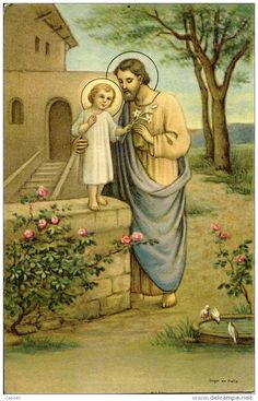 Catholic Prayers Daily, Catholic Art, Catholic Saints, Roman Catholic, Religious Art, Jesus Mary And Joseph, St Joseph, Christian Images, Christian Art