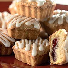 elegant almond jam tarts from King Arthur Flour