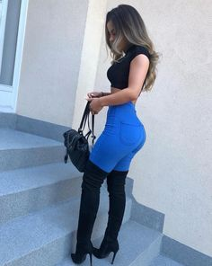 Sexy Jeans, Skinny Jeans, Sexy Outfits, Fashion Outfits, Trendy Outfits, Blue Fashion, Teen Fashion, Womens Fashion, Daily Fashion