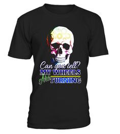 # MY WHEELS ARE TURNING Smiling Skull Brain Colorful T Shirt .  Special Offer, not available in shops      Comes in a variety of styles and colours      Buy yours now before it is too late!      Secured payment via Visa / Mastercard / Amex / PayPal      H