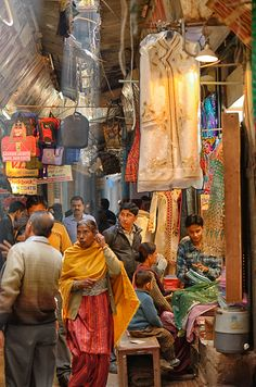 Bazar in old Delhi, Delhi, India