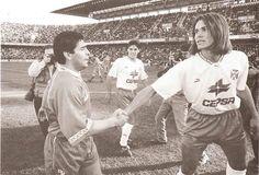 """Fernando Redondo """"El príncipe"""" y Diego Armando Maradona"""