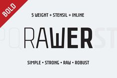 Rawer CondensedBold by Gaslight on @creativemarket