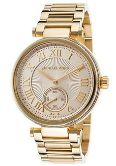 f74f93e2c1d Michael Kors Skylar Champagne Glitz Dial Gold Bracelet Women Watch NEW Michael  Kors
