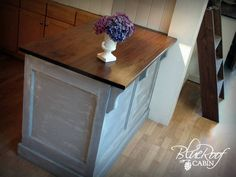 Kitchen island made from a door - amazing!