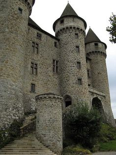 ARCHITECTURE – another great example of beautiful design. Medieval Castle, Auvergne, France photo via valerie