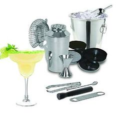 Kitchen Gems Stainless Steel 10 Piece Cocktail Shaker