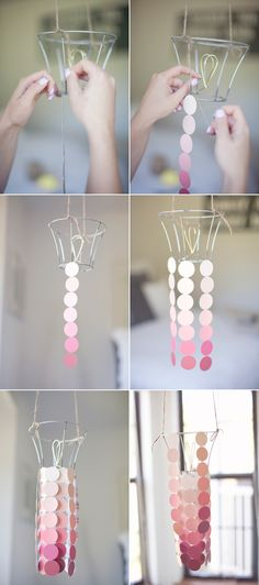 Paint Swatch Chandelier - I've seen many directions to do these but this is by far with the best illustration