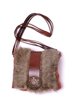 Our winter creation - FURRY by Mishonki - handmade messenger bag