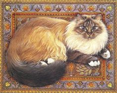 Sue's Cat by Lesley Ann Ivory. I love her cats, they look just as cats should, fat and happy.
