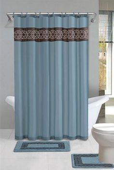 Home Dynamix DB15N309 Designer Bath Polyester 15Piece Bathroom Set Blue * Check this awesome product by going to the link at the image.
