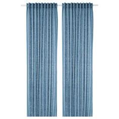 AINA Zasłona, 2 szt. - niebieski - IKEA