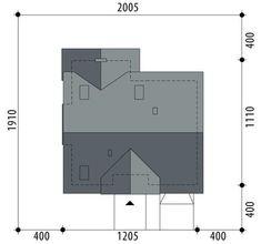 DOM.PL™ - Projekt domu FA Telimena CE - DOM GC6-29 - gotowy koszt budowy Carriage House Plans, Locker Storage, Floor Plans, House Design, How To Plan, Modern, Mountain, Exterior, Google