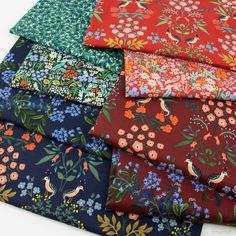 Rifle Paper Co. for Cotton and Steel, Meadow, Garden Nightfall in FAT QUARTERS 8 Total, Fabricworm brings you the latest in Modern fabrics! Rifle Paper Fabric, Rifle Paper Co, Meadow Garden, Basement Inspiration, Modern Fabric, Fat Quarters, Designer Collection, Workout Videos, Fabrics