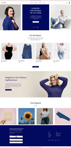 Plus Size Fashion Website | Website Template