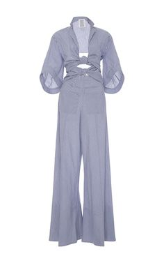 Knotty By Nature Bow Jumpsuit by ROSIE ASSOULIN for Preorder on Moda Operandi