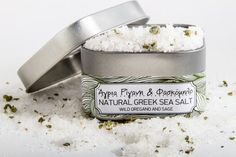 Natural Greek Sea Salt Wild Oregano & Sage. Rich and aromatic crispy salt with strong character.