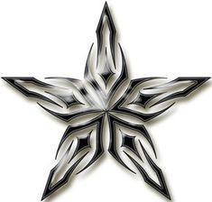 3d Star Tattoo, Acab Tattoo, 12 Tattoos, Star Tattoo Designs, Celtic Tattoos, Star Tattoos, Tattoo Fonts, Star Designs, Tribal Tattoos