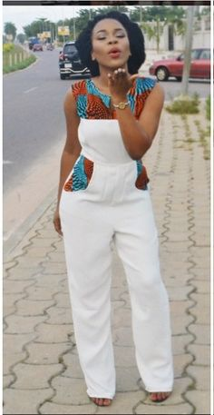 Gorgeous casual jumper with cute African print details