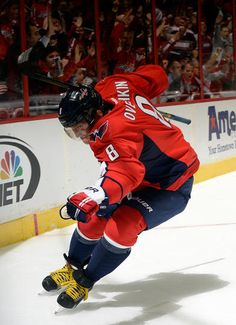 New York Islanders at Washington Capitals - Game W 6-2- 11/05/2013 Alex Ovechkin #8 of the Washington Capitals celebrates after scoring a goal against the New York Islanders at Verizon Center in Washington, D. C. (Photo by Patrick McDermott/NHLI via Getty Images)