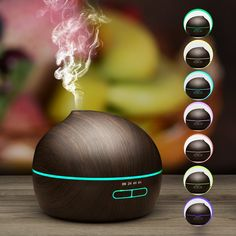 [New Generation] Essential Oil Diffuser, VicTsing 300ML Cool Mist Humidifier Wood Grain Ultrasonic Aromatherapy Diffuser with 7 Color LED Lights Waterless Auto Shut-Off Function: Amazon.ca: Health & Personal Care