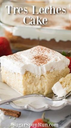 The BEST recipe for Tres Leches Cake! This is a great classic cake recipe made with three milks. The BEST recipe for Tres Leches Cake! This is a great classic cake recipe made with three milks. Traditional Mexican Desserts, Authentic Mexican Desserts, Köstliche Desserts, Delicious Desserts, Food Cakes, Cupcake Cakes, Chocolate Tres Leches Cake, Tres Leches Cupcakes, Cake Portions